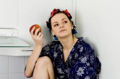 Girl Eatin An Apple Stock Images