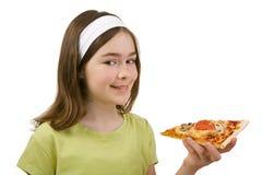 Girl eating Stock Image