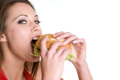Girl Eating Royalty Free Stock Photo