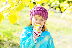 Girl eating apple Royalty Free Stock Photo