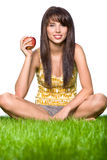Girl eating apple Stock Photography