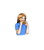 Girl eating burguer Royalty Free Stock Images
