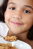 Girl Eating Cereal Royalty Free Stock Images