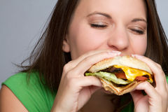 Girl Eating Food royalty free stock photography