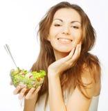 Girl eating healthy food Stock Image