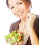 girl eating healthy food royalty free stock image
