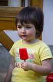 Girl eating ice cream Royalty Free Stock Photo