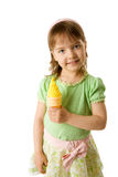Girl eating ice-cream Royalty Free Stock Image