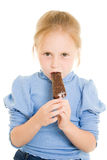 Girl eating ice cream Royalty Free Stock Photos