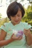 Girl eating ice cream Royalty Free Stock Photography
