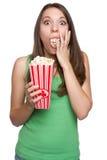 Girl Eating Popcorn royalty free stock photo