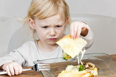 Girl eating quesadilla Royalty Free Stock Photo