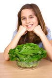 Girl eating a salad Royalty Free Stock Photo