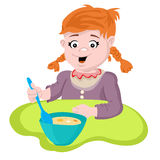 Girl eating Royalty Free Stock Images