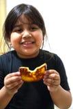 Girl Eating Toast Stock Photos