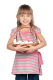 Girl with eggs Stock Photography