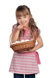 Girl with eggs Royalty Free Stock Photography