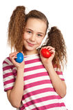 Girl with eggs Royalty Free Stock Photo