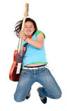 Girl - electric guitar Stock Images