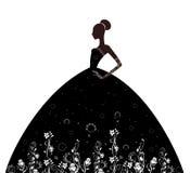 Girl in elegant  dresses Stock Photo