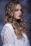 Girl with elegant vintage style Stock Photos