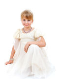 Girl in elegant white dress Royalty Free Stock Image