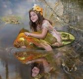 Girl elf royalty free stock photo