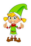 Girl Elf Character In Green Stock Image