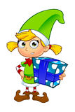 Girl Elf Character In Green Stock Photo