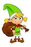 Girl Elf Character In Green Royalty Free Stock Photos