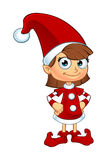 Girl Elf Character In Red Stock Photography