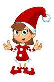 Girl Elf Character In Red Royalty Free Stock Image