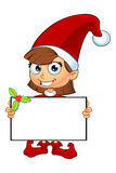 Girl Elf Character In Red Royalty Free Stock Photos