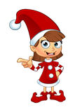Girl Elf Character In Red Stock Photos