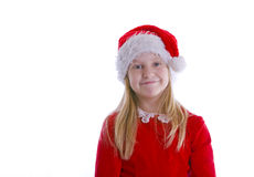 Girl Elf in Red Royalty Free Stock Image
