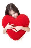 Girl embraced to the heart Royalty Free Stock Photography