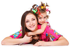 Girl embracing mother Royalty Free Stock Photo
