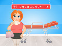 Girl in the emergency room Stock Photos