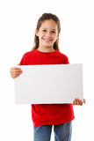 Girl with empty blank royalty free stock photography