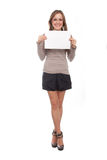Girl with the empty list Stock Photography