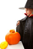 Girl empty pumpkin Royalty Free Stock Images