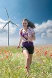 Girl and energy Stock Photo