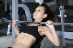 Barbell exercises Stock Image