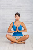 The girl is engaged in yoga Royalty Free Stock Photography