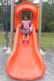 Girl Enjoy Playground Stock Photos