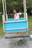 Girl Enjoy Playground Royalty Free Stock Photos