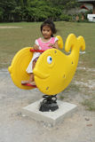 Girl Enjoy Playground Royalty Free Stock Images
