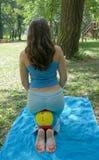 Girl Enjoying exercises oudoors Stock Photo