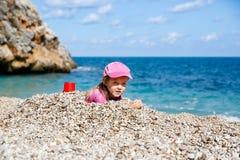 Girl enjoying free time on the beach Royalty Free Stock Photo