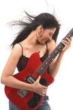 Girl enjoying with guitar Stock Photography